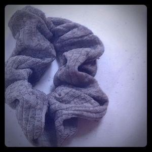Grey scrunchies